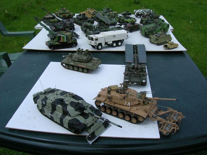 Modelbouw legervoertuigen