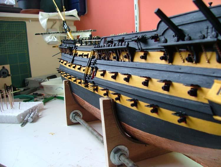 Modelbouw toon onderwerp bouw hms victory - Geschilderd slaapkamer model ...