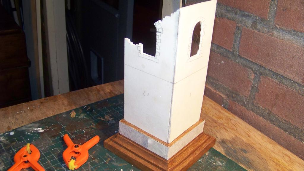 Modelbouw toon onderwerp the tower - Buitenste trap ...