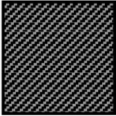 1:24 Carbon Fiber Twill Weave Black / Pewter Composite Fiber