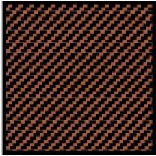 1:24 Carbon Fiber Twill Weave Black / Bronze Composite Fiber