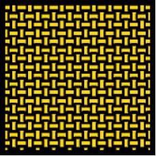 1:12 Kevlar Basket Weave Yellow / Black Composite Fiber