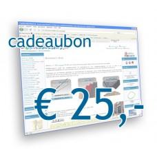 Modelbouw Cadeaubon 25 Euro