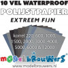 Waterproof schuur- en polijstset (10 vel)