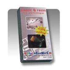 Schuur- en polijstset speciaal voor plastic en resin